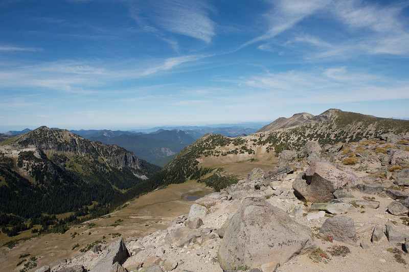 Looking north from First Burroughs Mountain