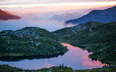 Magisk solnedgang over Lifjell 9