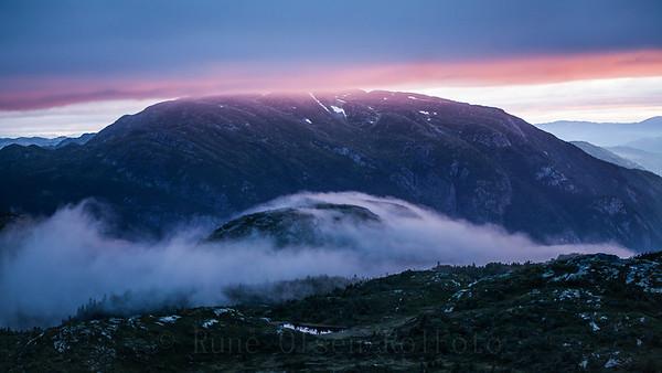 Magisk solnedgang over Lifjell 17