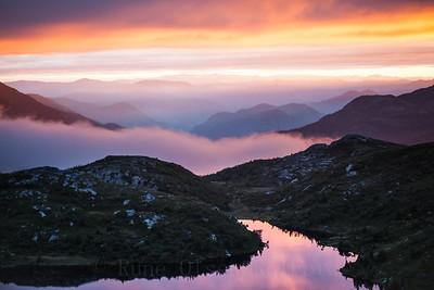 Magisk solnedgang over Lifjell 12