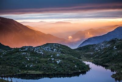 Magisk solnedgang over Lifjell 7