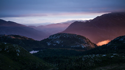 Magisk solnedgang over Lifjell 8