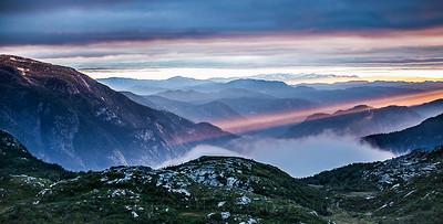 Magisk solnedgang over Lifjell 1