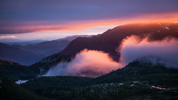 Magisk solnedgang over Lifjell 13