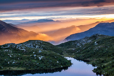 Magisk solnedgang over Lifjell 4