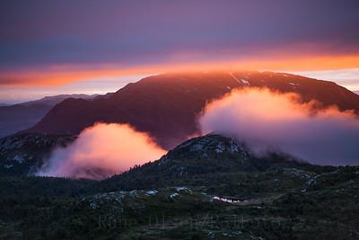 Magisk solnedgang over Lifjell 11