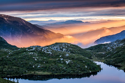 Magisk solnedgang over Lifjell 3