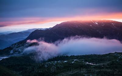 Magisk solnedgang over Lifjell 15