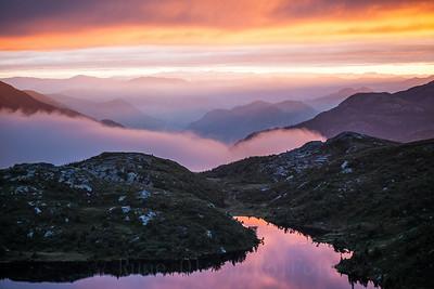 Magisk solnedgang over Lifjell 10