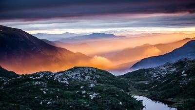 Magisk solnedgang over Lifjell 5