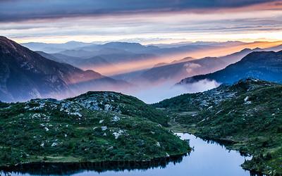 Magisk solnedgang over Lifjell 2