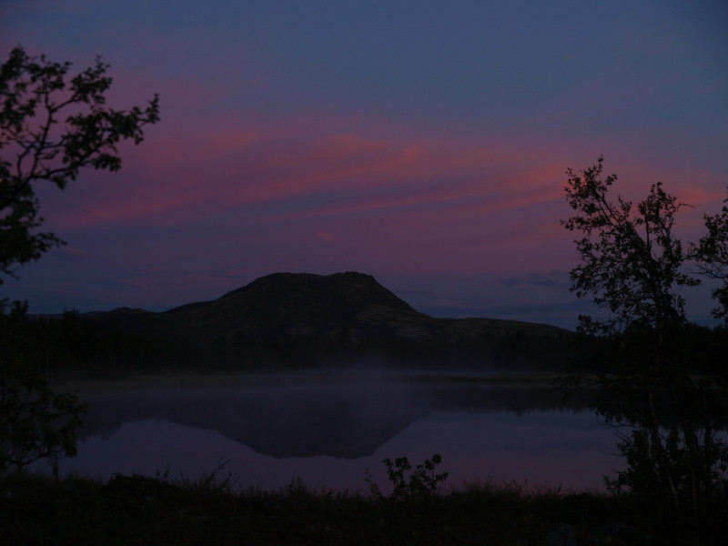 "Sunrise at Venabu in Norway, mountain ""Svartfjellet"" - black mountain"