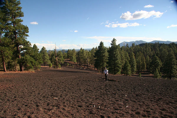 The backside of Lenox Crater
