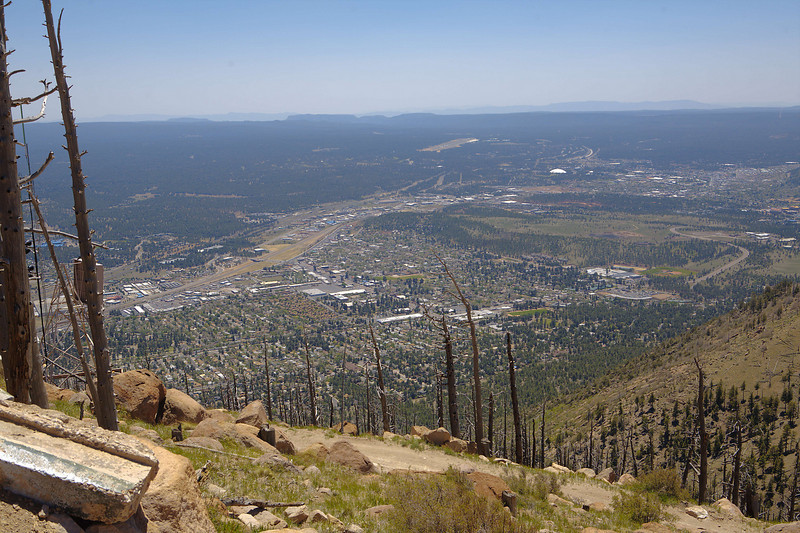 View from the top of Mt. Elden, 2400 feet above Flagstaff.  It was a long hike up!