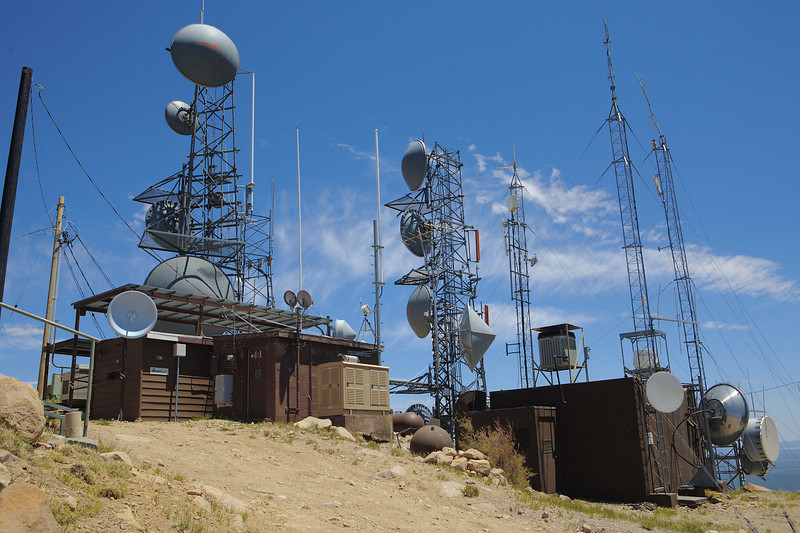 More towers at the top of Mt. Elden.
