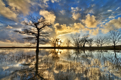 Great sunset to end a rainy day in the Mississippi Delta - near Tribbett, MS (1/13/14). See more at www.instagram.com/johnmontfort