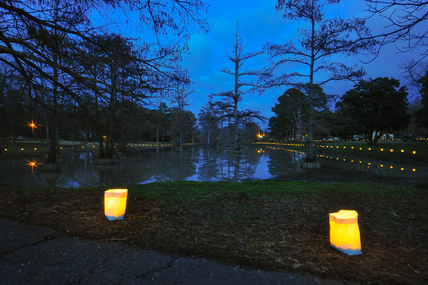 Hundreds of Luminaries are lit along Mound Bayou and along the streets of Inverness, Mississippi every Christmas Eve. It is a beautiful tradition.