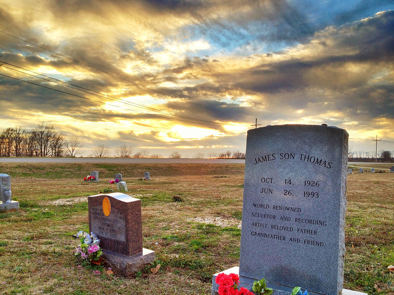 "Mississippi Bluesman, James ""Son"" Thomas' Headstone - Tribbett, Mississippi"
