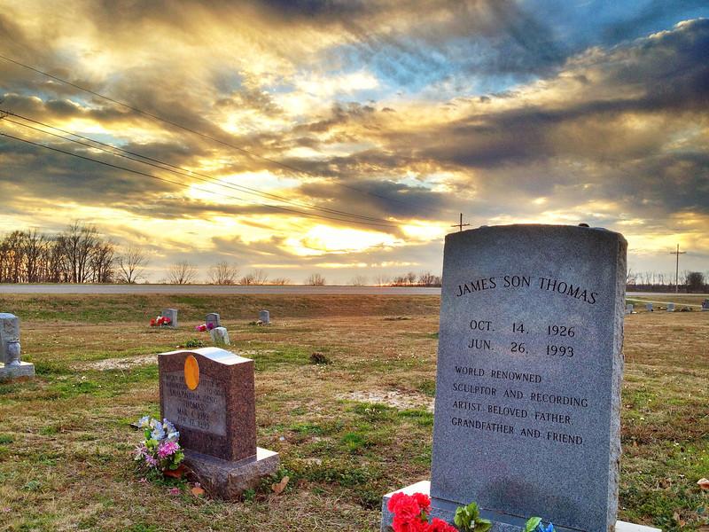 "Mississippi Bluesman, James ""Son"" Thomas' Headstone - Tribbett, Mississippi"