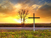 "Happy Easter! ""Cross Sunset"" - near Leland, MS"