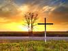"Happy Easter! ""Cross Sunset"" - near Leland, MS"
