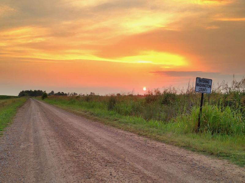 Entering Washington County - Bourbon, Mississippi