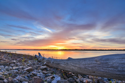 Yesterday's sunset over the Mighty Mississippi - near Greenville, MS - see more at www.instagram.com/johnmontfort  Feel free to share!