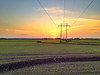 "Delta Sunset over a ""crooked levee"" rice field - Murphy, Mississippi - 4/11/12"