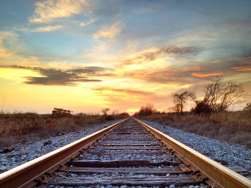 Head-on Tracks - near Baird, Mississippi