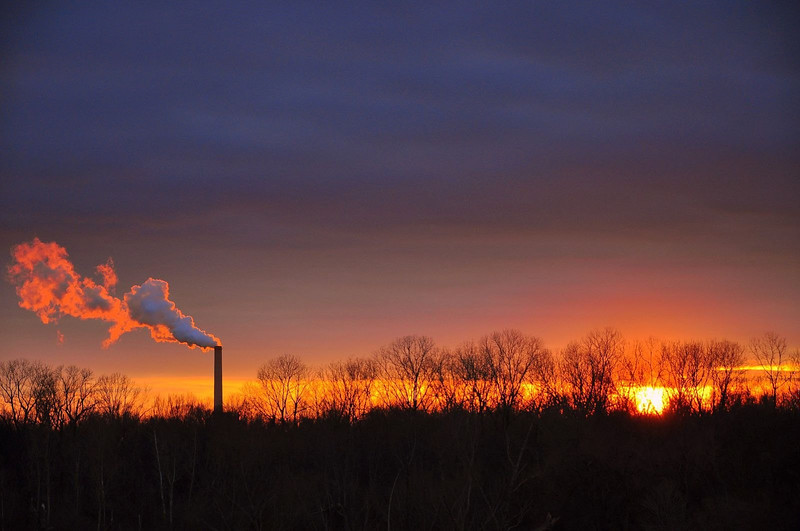 Smokestack sunset - Greenville, Mississippi