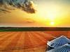 Mississippi Delta sunset atop the Bourbon Plantation grain bins - Bourbon, Mississippi