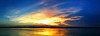 Panoramic River Sunset - Greenville, Mississippi