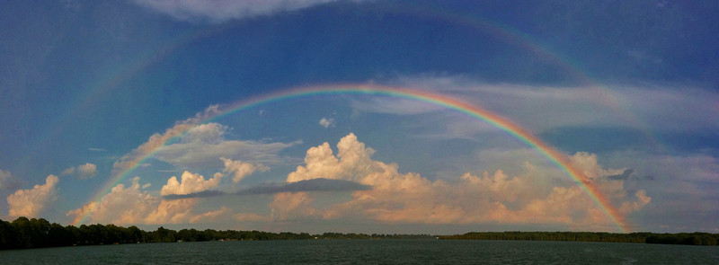 Twin Rainbows over Lake Washington - Chatham, Mississippi