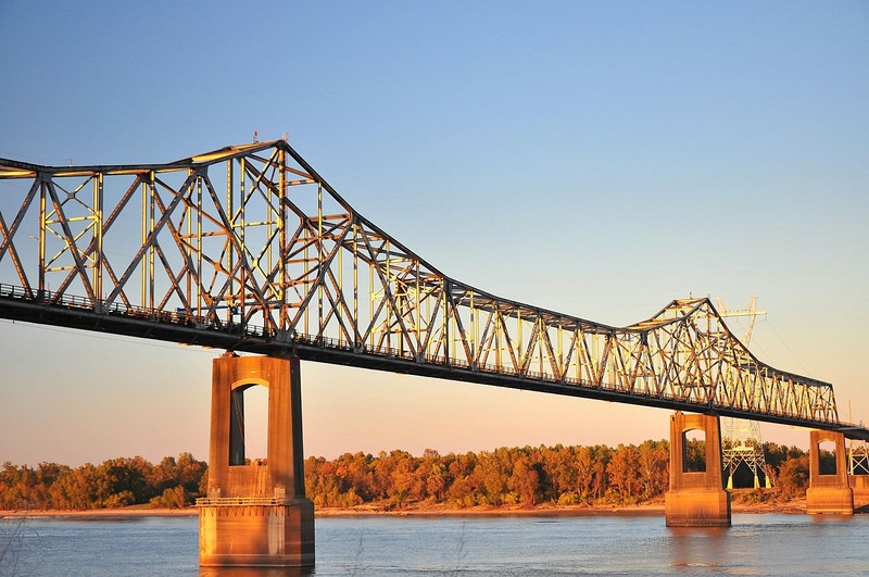 Old Mississippi River bridge - Greenville, MS