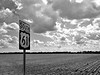 """Highway 61 South - the """"Blues Highway"""" that runs through the heart of the Delta - Arcola, Mississippi"""