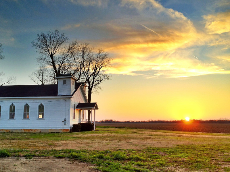 """Two-Spired Church (Seen in the movie """"The Help"""") - Greenwood, Mississippi"""