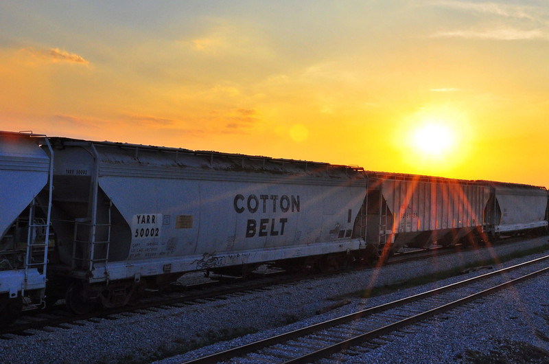 "A ""Cotton Belt"" grain car. LIKE if you see the irony here! - near Holly Ridge, Mississippi"
