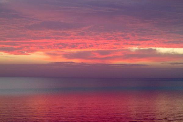 Moody Sunset over Ocean