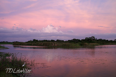 Colorful clouds over Lake Ward.