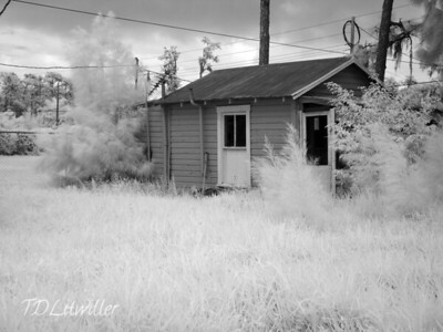 Infrared photo of one of the original Cabins, sadly I did not take any normal photos of the cabins.