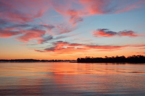 Sunrise over Bay Lake
