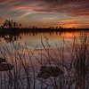 Sunset at Pine Glades Lake, Everglades National Park