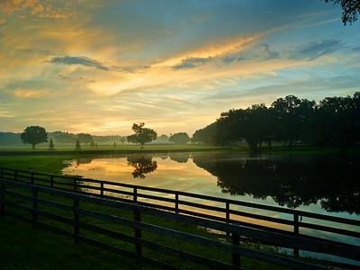 Sunrise over Farm Lake 2