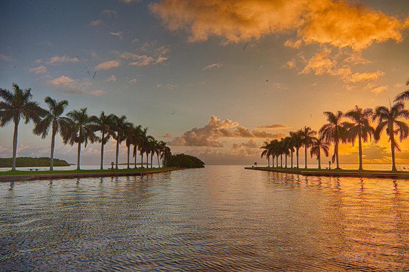 Deering Estate Sunrise, Sunrise at the Keyhole..