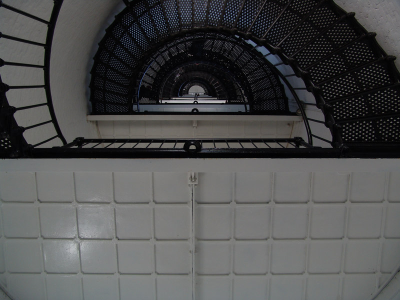 St. Augustine Lighthouse steps (looking up)