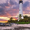Cape Florida Lighthouse at Bill Baggs State Park, Key Biscayne, Florida