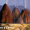 fly Geyser- you can get close but not too close because of the hot, scathing water.