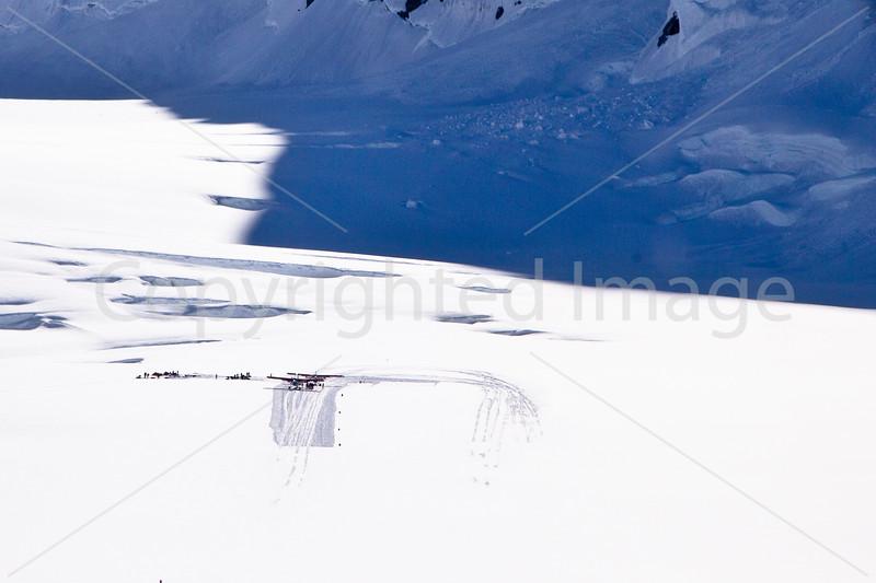 Landing strip on the Glacier