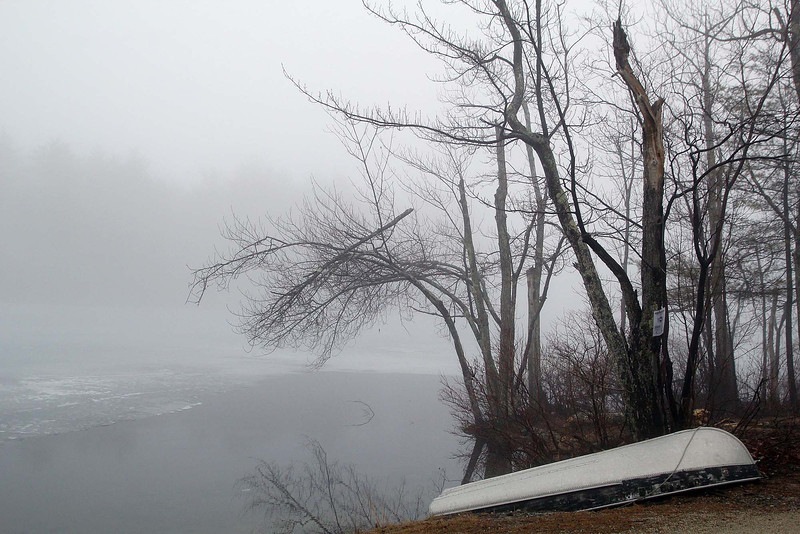 The Fog was thick over Upper Naukeag Lake in Ashburnham on Tuesday morning. SENTINEL & ENTERPRISE/JOHN LOVE