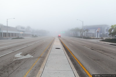 A foggy morning in Fort Lauderdale, Florida, February 25, 2017